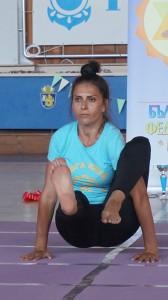 Катя Керемиджян - първо място във възр. гр. 36-40 г, стил  асана