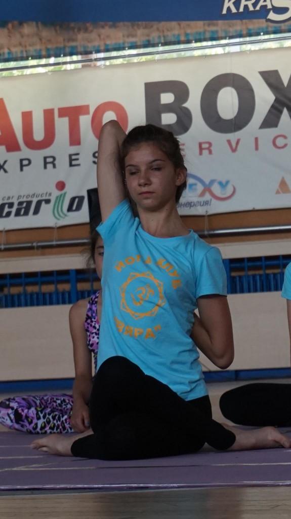 Мартина Шебин - второ място във възр. гр. 13-17 г, стил  асана